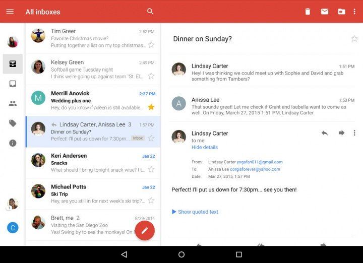 how to use gmail on samsung tablet