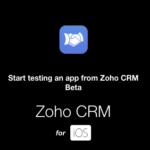Nueva versión Beta de la App ZOHO CRM para iOS y Android