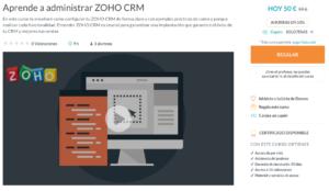 Oferta Inauguración Curso Online Aprende a Administrar ZOHO CRM